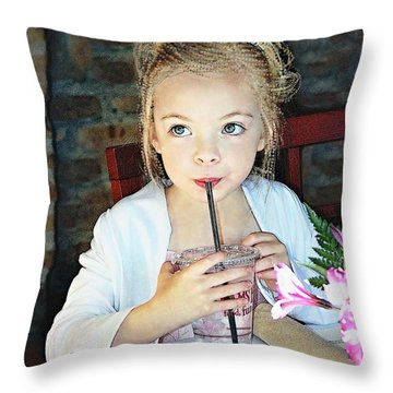 Mommy And Daddy's Little Princess Throw Pillow