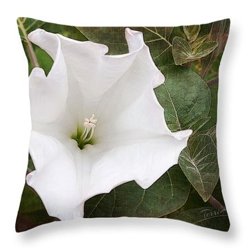 Moonflower Throw Pillow
