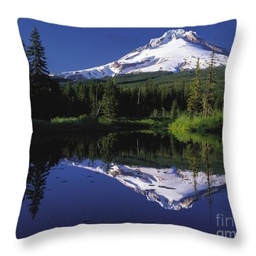Throw Pillow featuring the photograph  Mount Hood Oregon  by Paul Fearn