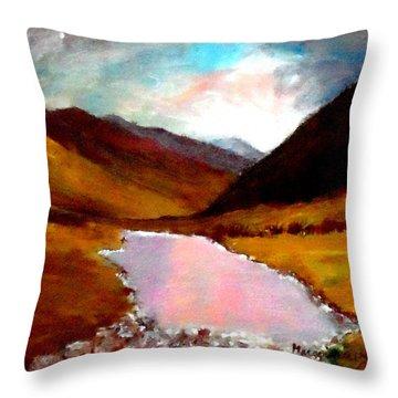 Mountain Landscape Throw Pillow by Mauro Beniamino Muggianu