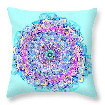 Murano Glass - Blue Throw Pillow by Anastasiya Malakhova