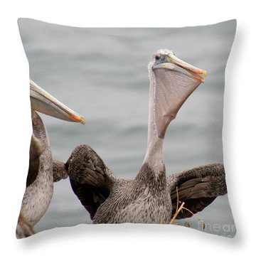 Throw Pillow featuring the photograph  My Fish by Bob and Jan Shriner