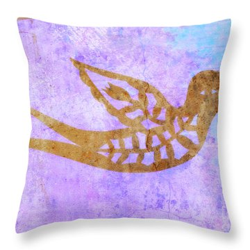 Throw Pillow featuring the painting  New Free Bird by Mindy Bench