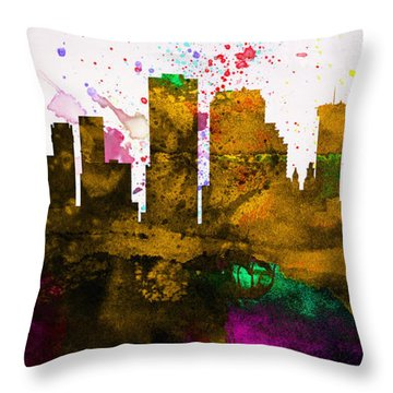New Orleans City Skyline Throw Pillow