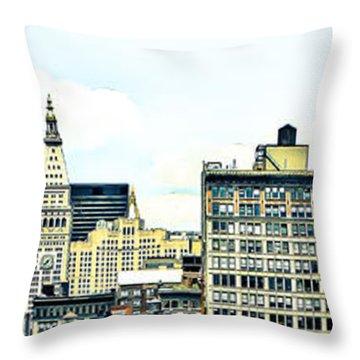 New York City Throw Pillow by Ken Marsh