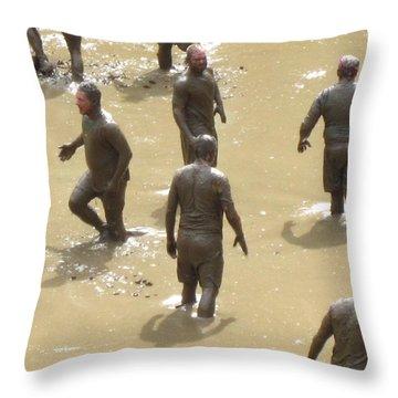Nh North Conway Mud Ball Throw Pillow