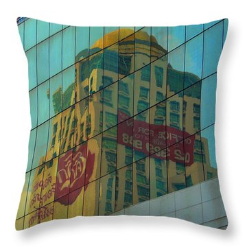 Throw Pillow featuring the photograph  Office For Sale by Michelle Meenawong