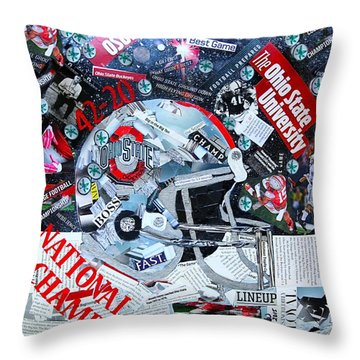 Ohio State University National Football Champs Throw Pillow