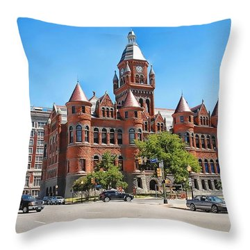 Throw Pillow featuring the photograph   Old Red Museum - Dallas  by Dyle   Warren