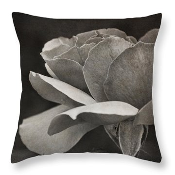 Open Tea Rose  Throw Pillow