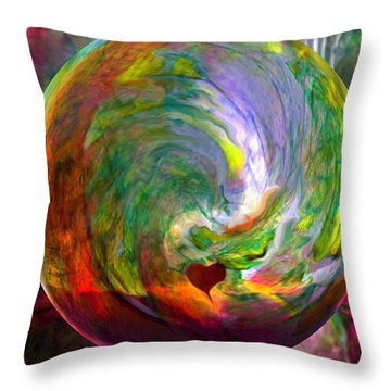 Orbing A Sea Of Love Throw Pillow