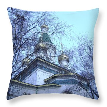 Orthodox Church Throw Pillow