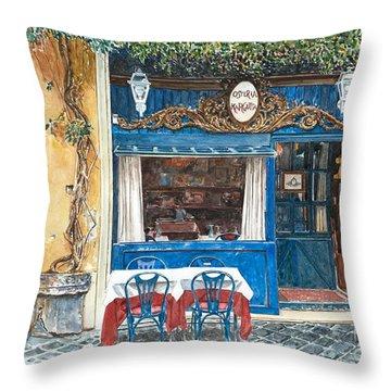 Osteria Margutta Rome Italy Throw Pillow by Anthony Butera