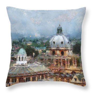 Oxford Panorama Throw Pillow by Georgi Dimitrov