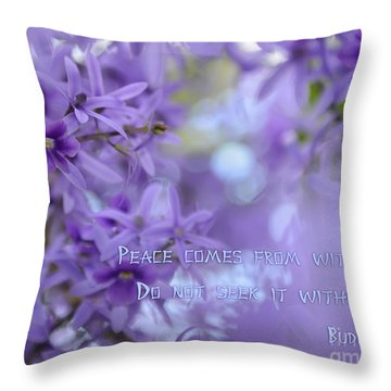 Peace Comes From Within Throw Pillow by Olga Hamilton