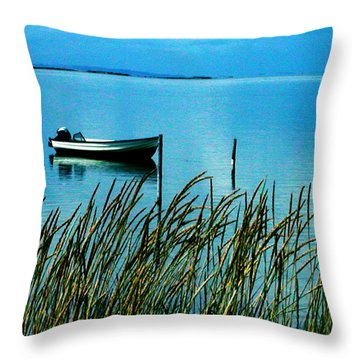 Throw Pillow featuring the photograph  Peaceful Samsoe Island Denmark by Colette V Hera  Guggenheim
