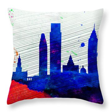 Philadelphia City Skyline Throw Pillow by Naxart Studio