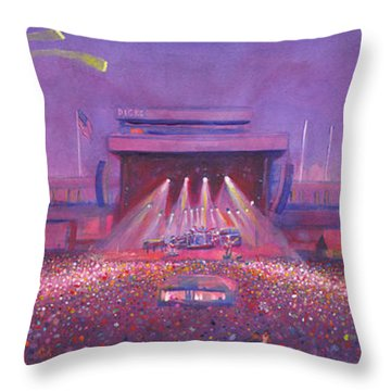 Phish At Dicks Throw Pillow by David Sockrider