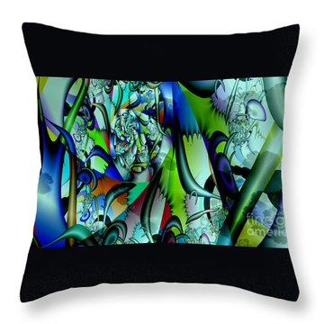 Picasso's Friend Throw Pillow by Peter R Nicholls