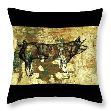 German Pietrain Boar 27 Throw Pillow