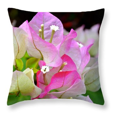 Pink  Bougainvillea ...with A Friend Throw Pillow