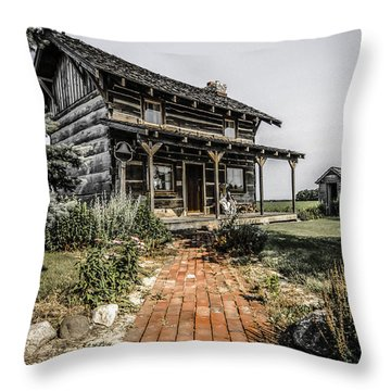 Pioneer Farmhouse Throw Pillow