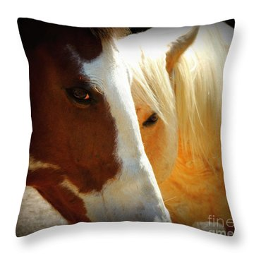 Portrait Of Tai And Woody Throw Pillow