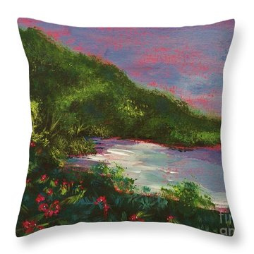 Ptg   Blue Lagoon Throw Pillow