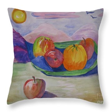 Ptg.fruit In A Landscape 2 Demo Throw Pillow