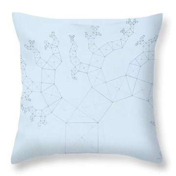 Quantum Tree Throw Pillow