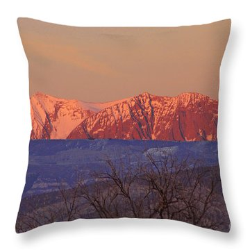 Radiant Ragged Mountain Evening Co II Throw Pillow