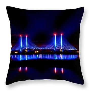 Reflecting Bridge - Indian River Inlet Bridge Throw Pillow