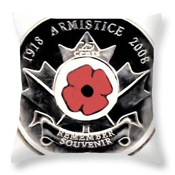 Remember Armistice Jour Du Souvenir  Throw Pillow by Danielle  Parent