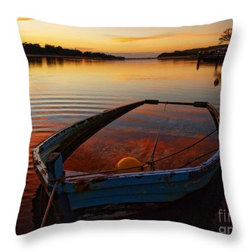 Throw Pillow featuring the photograph  Ripples by Trena Mara