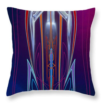 Throw Pillow featuring the painting  Rocket 88  by Alan Johnson