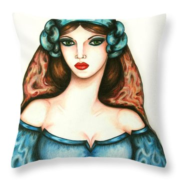 Roman Woman Throw Pillow