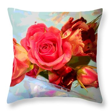 Roses 4 Lovers  Throw Pillow