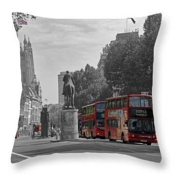 Routemaster London Buses Throw Pillow