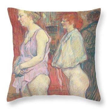 Rue Des Moulins Throw Pillow by Henri de Toulouse-Lautrec