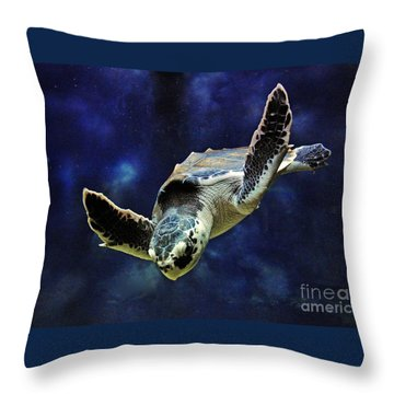 Throw Pillow featuring the photograph  Sea Turtle by Savannah Gibbs