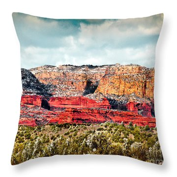 Secret Mountain Wilderness Sedona Arizona Throw Pillow