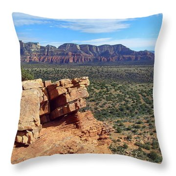 Sedona View From Roober Roost Throw Pillow by Sin D Piantek