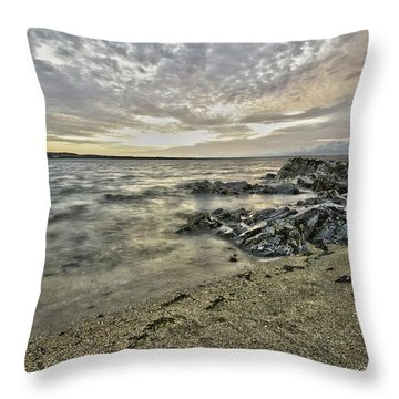 Skerries Ocean View Throw Pillow by Martina Fagan