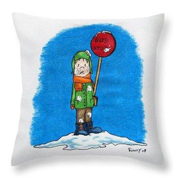 Snowballs Suck Throw Pillow