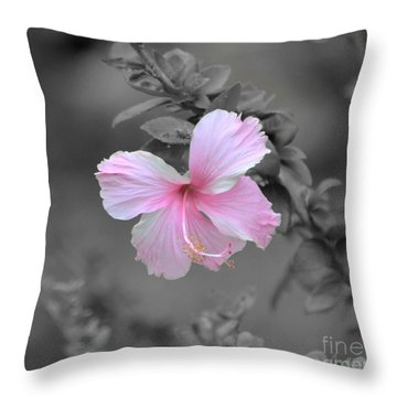 Throw Pillow featuring the photograph  Soft Pink by Michelle Meenawong