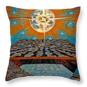 Throw Pillow featuring the digital art  Solar Energy by Eleni Mac Synodinos