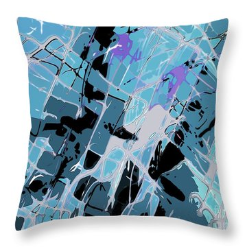 Throw Pillow featuring the photograph  Spiderweb Got Me by Everette McMahan jr