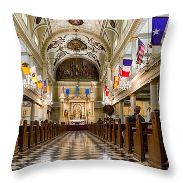 St. Louis Cathedral Throw Pillow by Steve Harrington