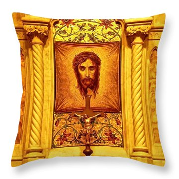 St. Patrick Nyc  Altar Throw Pillow by Joan Reese