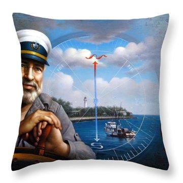 St. Simons Island Sea Captain 5 Throw Pillow